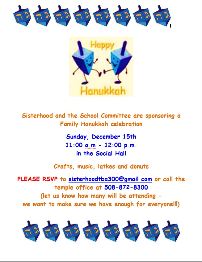 TBA Chanukah Party