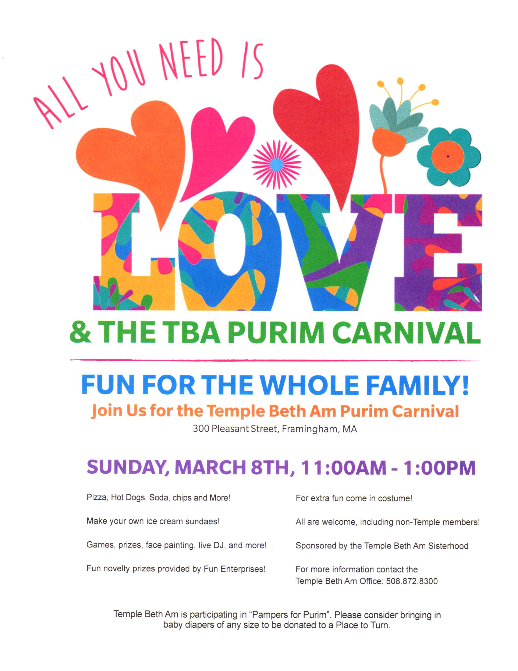 Purim Carnival March 2020